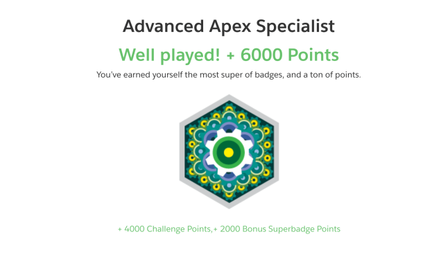Advanced Apex Specialist