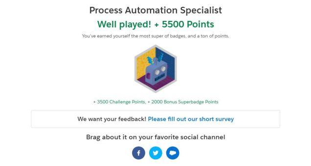 Superbadge – Process Automation Specialist – Tech Evangel