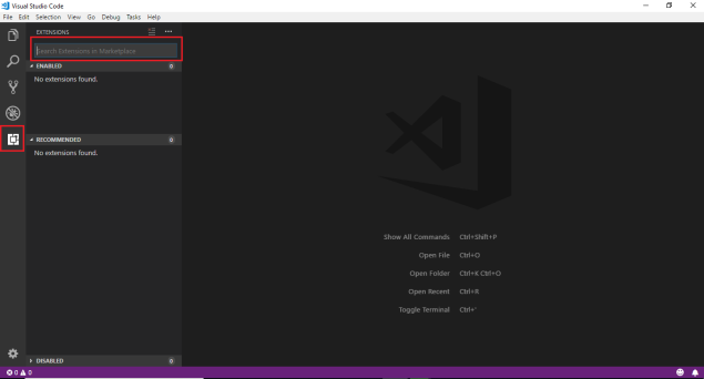 Installed Visual Studio Code