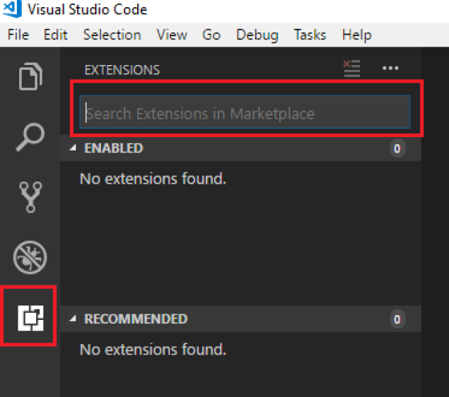 Visual Studio Extension Search Area