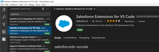 Install the Salesforce Extensions for VS Code