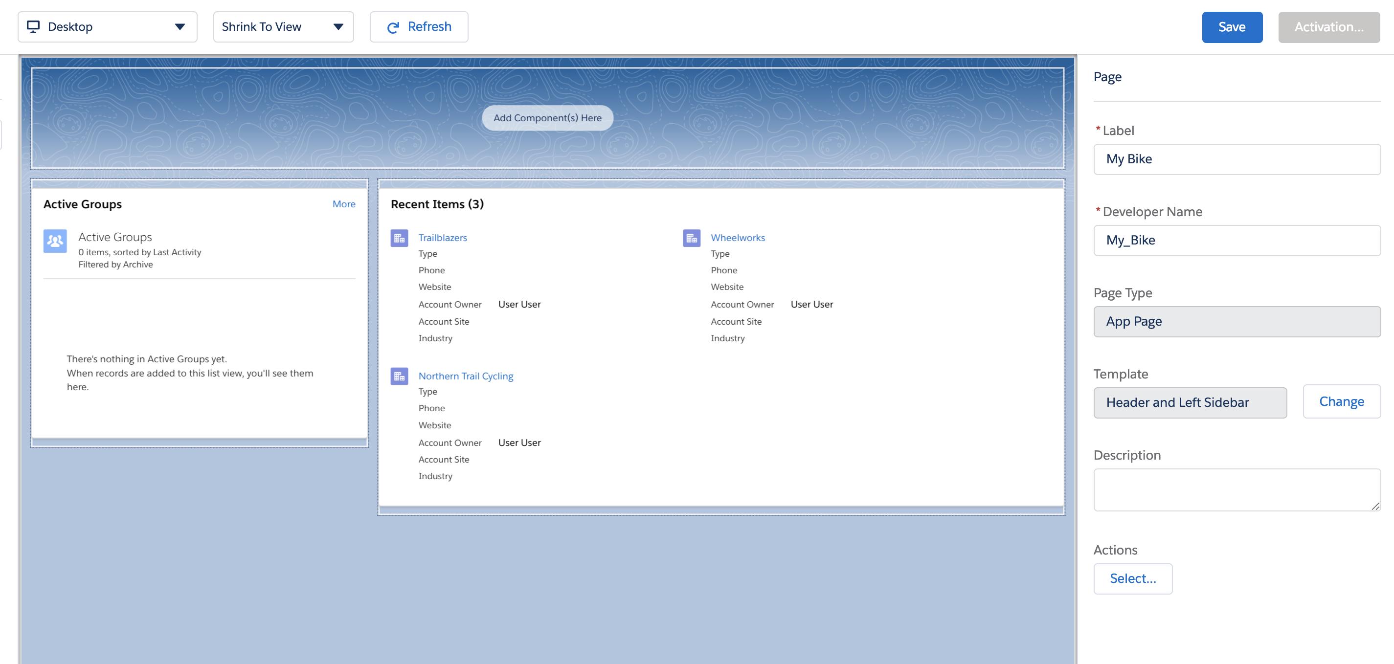 Custom Lightning Page Template / Layout – Tech Evangel